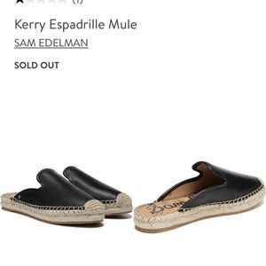 Sam Edelman Shoes - New without box Kerry mule espadrilles